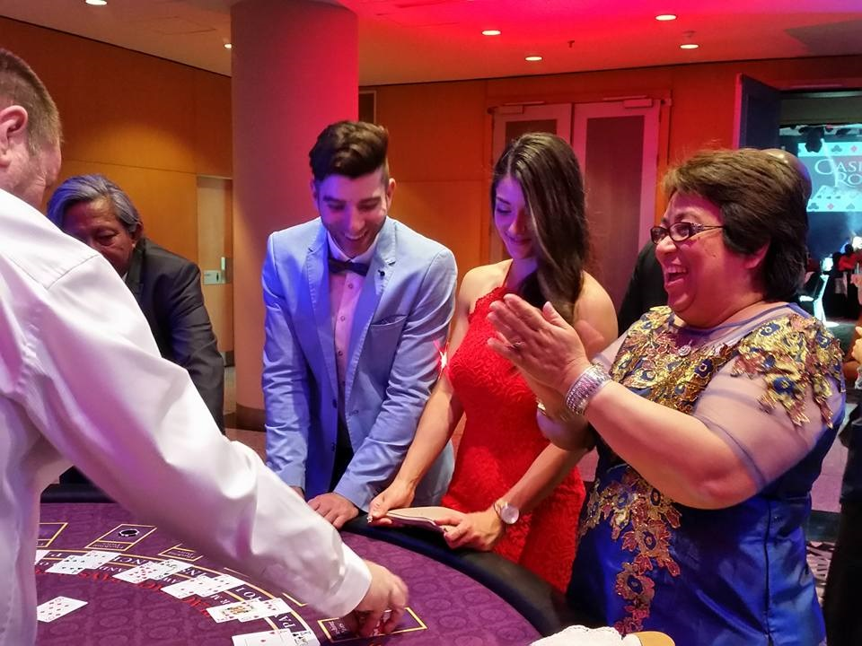 Hyatt Staff Playing Blackjack