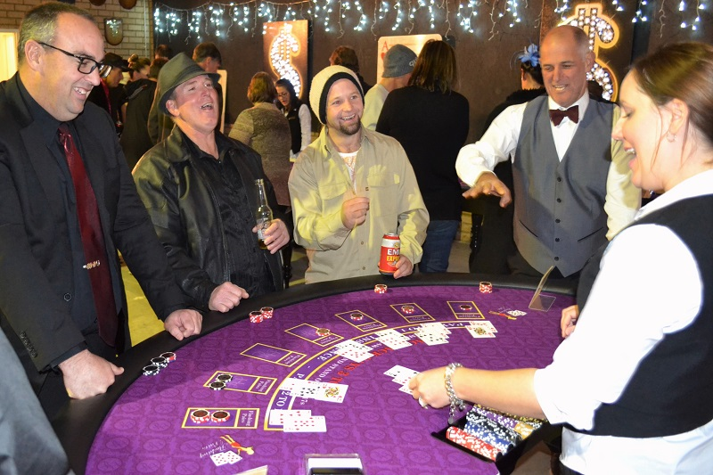 Blackjack Players Having Fun