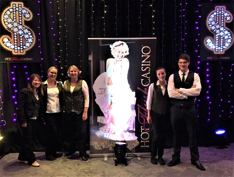 Hot Flush Casino Croupier Team
